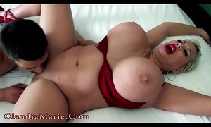 Young latino copulates giant tit claudia marie