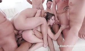 10 on 1 gang team fuck for ultra floozy gabriella lati 10 swallows!